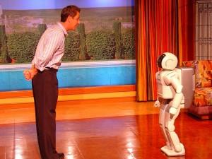 Homem e Robot Asimo