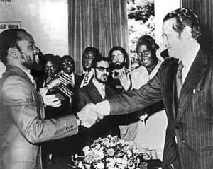 Samora Machel e Mário Soares